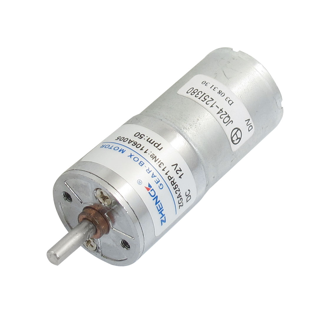 25mm Body Dia. Two Terminals Auto Shutter Gear Motor 12VDC 50RPM