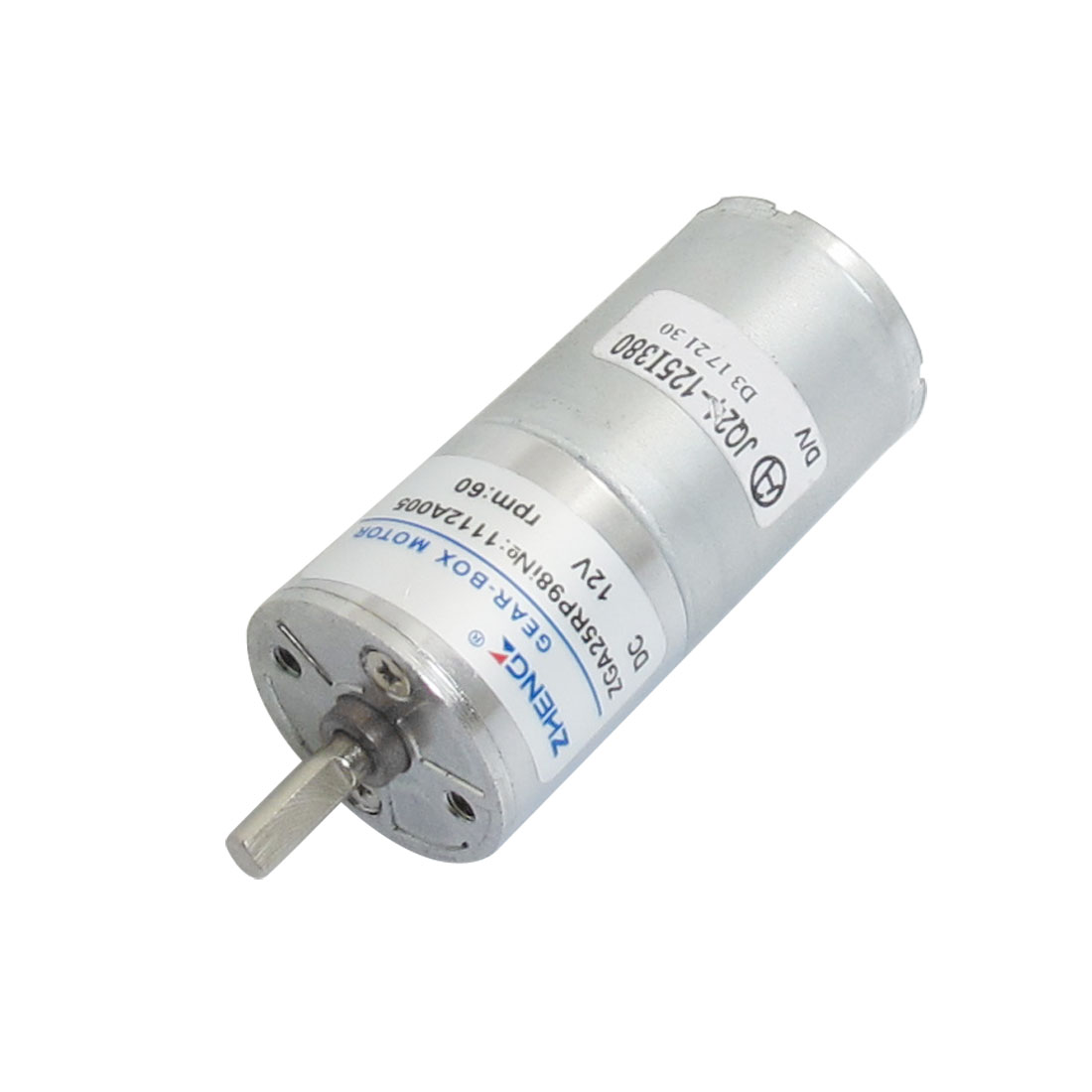 DC 12V 60RPM Speed Reducing Power Geared Motor 25mm x 53mm