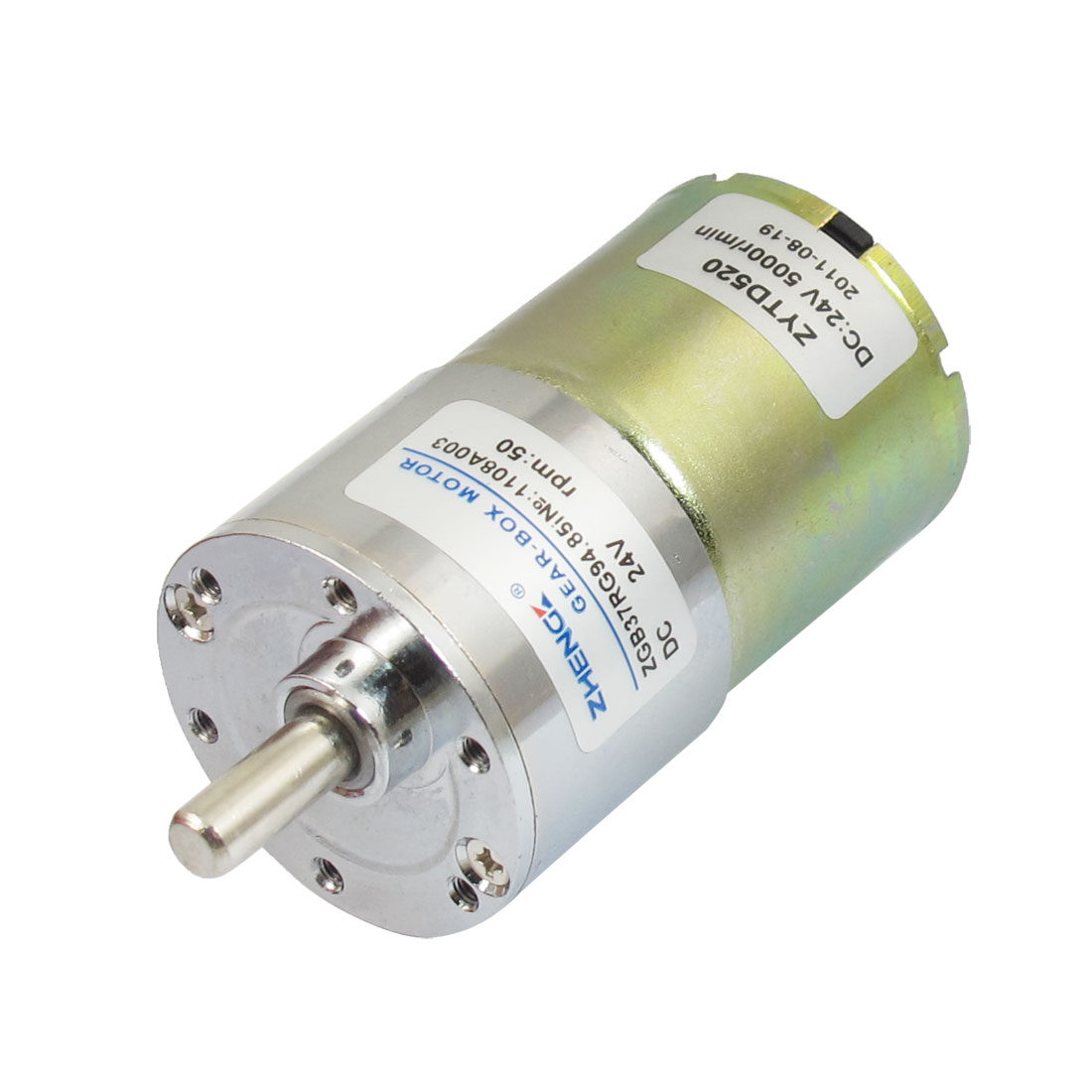 DC 24V 50RPM Output Speed Cylinder Shaped Oven Geared Motor
