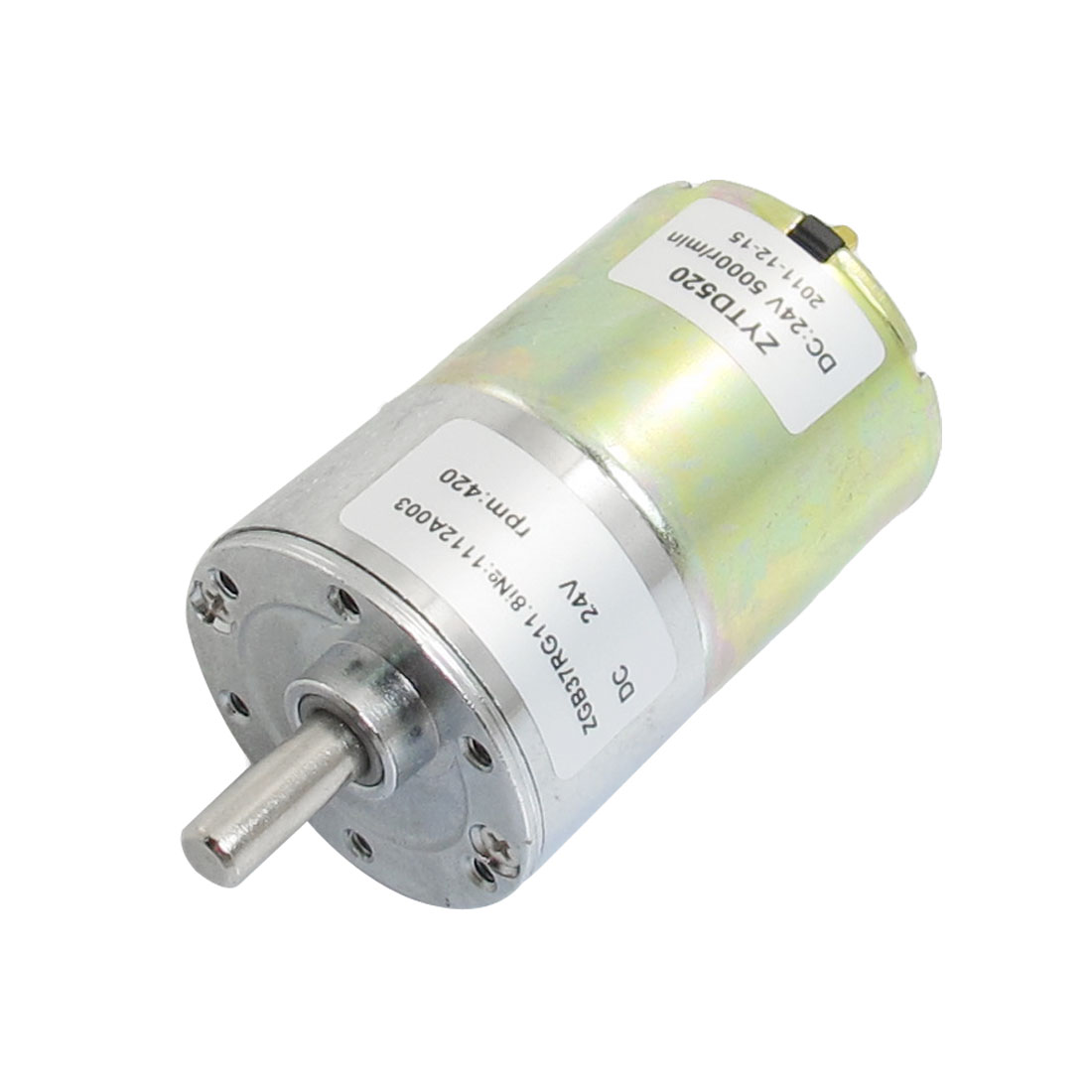 DC 24V 420RPM Output Speed Cylinder Shaped Oven Geared Motor