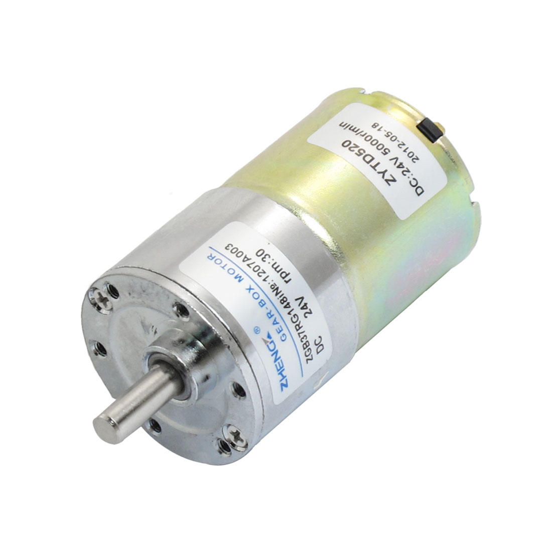 30RPM 24VDC 6mm Shaft Dia Speed Reduction Geared Motor