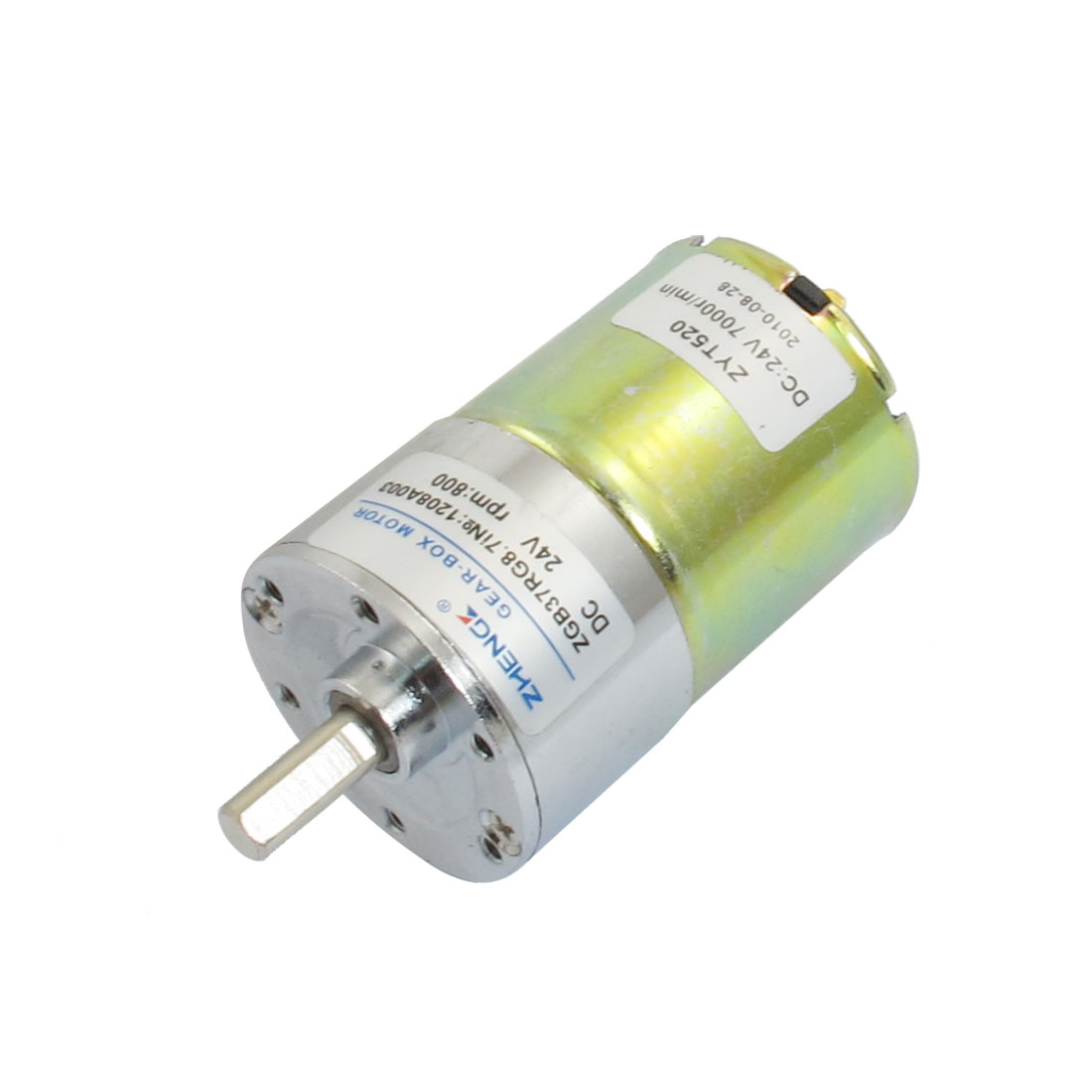 800RPM 24VDC 6mm Shaft Dia Speed Reduction Geared Motor