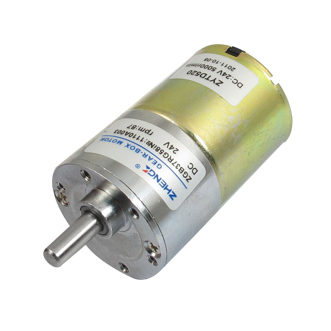 DC 24V 87RPM Output Speed Cylinder Shaped Oven Geared Motor