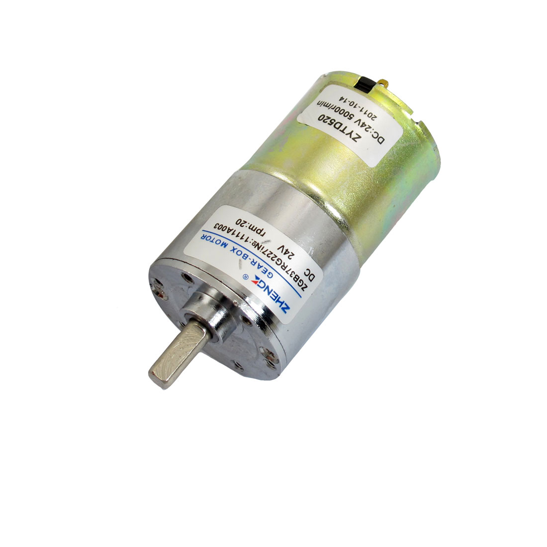 DC 24V 20r/min Output Speed Cylinder Shaped Oven Geared Motor