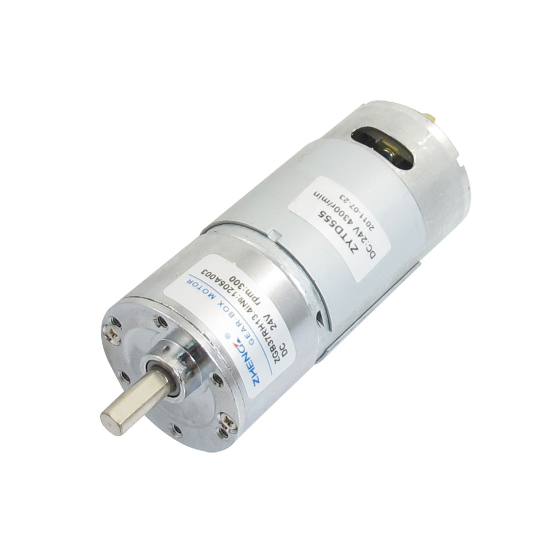 ZGB37RH 37mm x 89mm Body 2P Machine Geared Motor 24VDC 300RPM