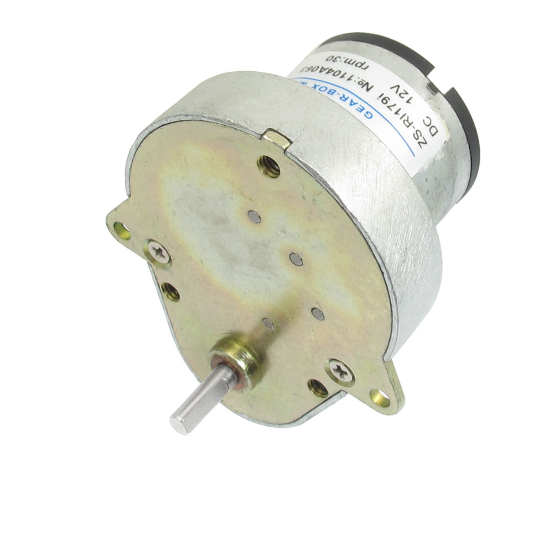 DC 12V 30RPM 4mm Shaft Diameter Power Gear Box Motor ZS-RI