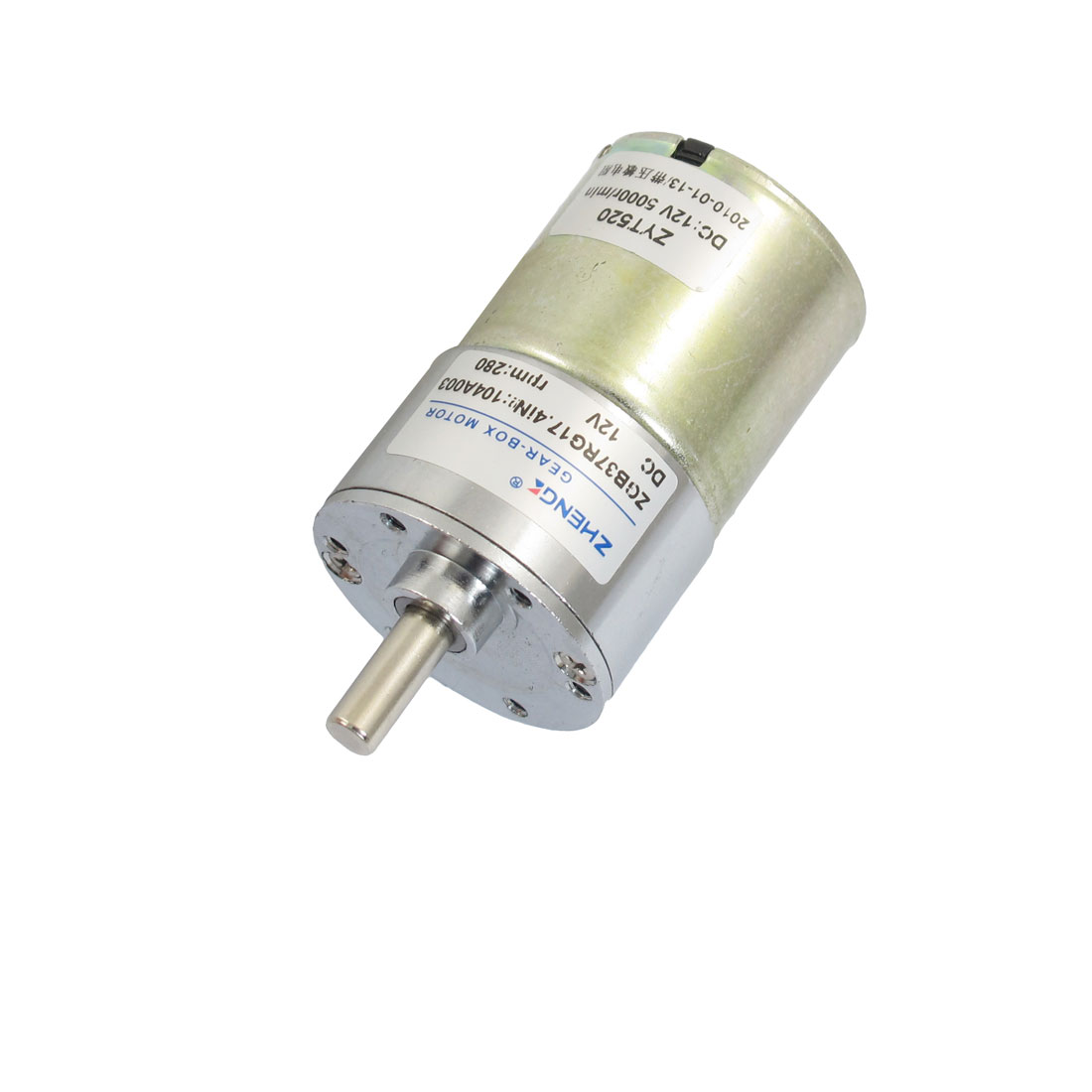 280RPM 12VDC 6mm Shaft Dia Speed Reducing Geared Motor