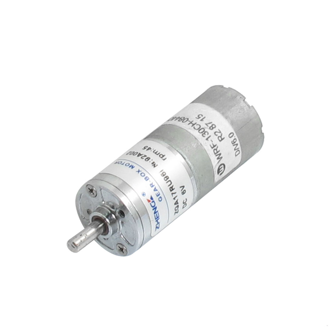 17mm Body Dia. Two Terminals Micro Electric Gear Motor 6VDC 45RPM