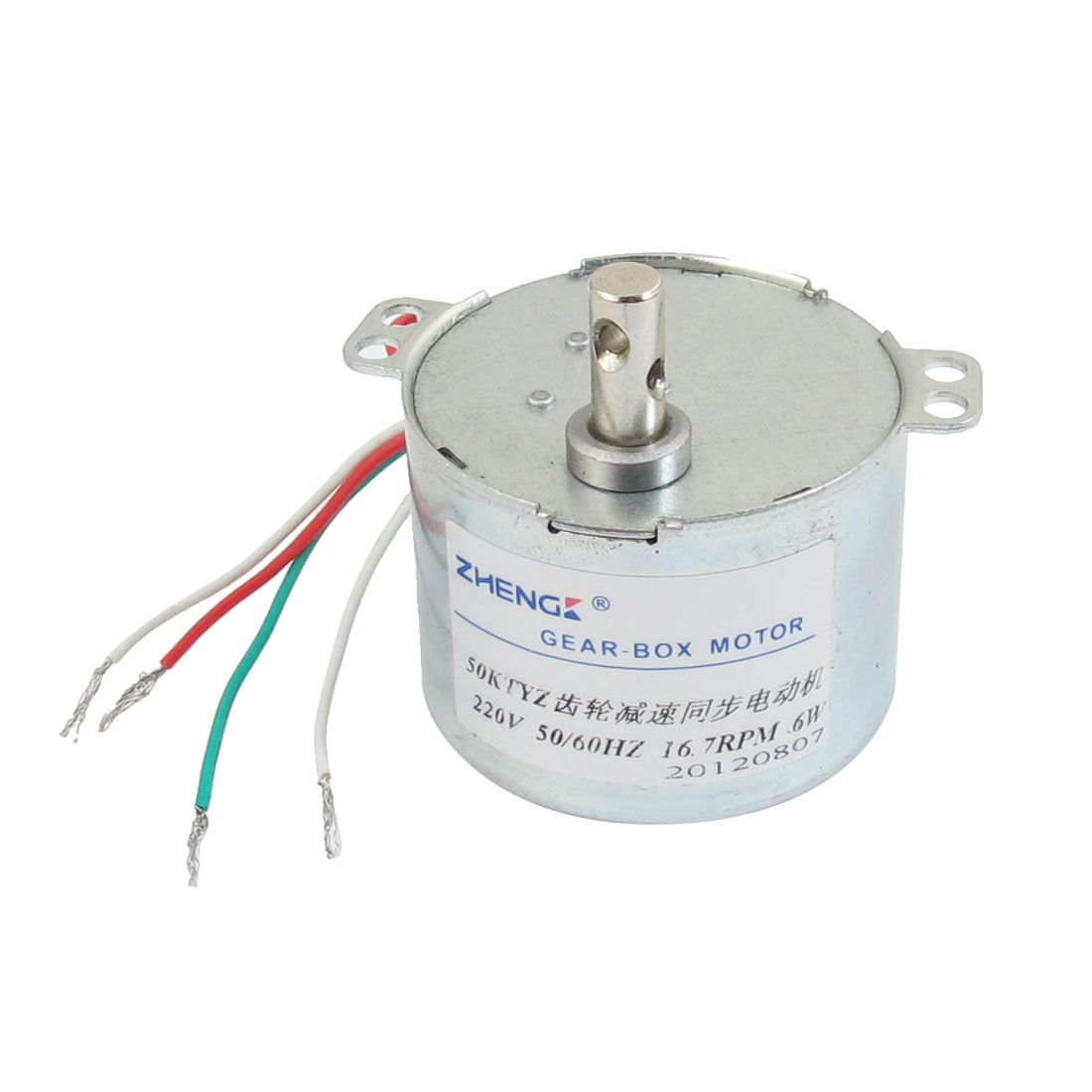 220VAC 16.7RPM 16W Micro Synchronized Reduced Gear Motor w Capacitor