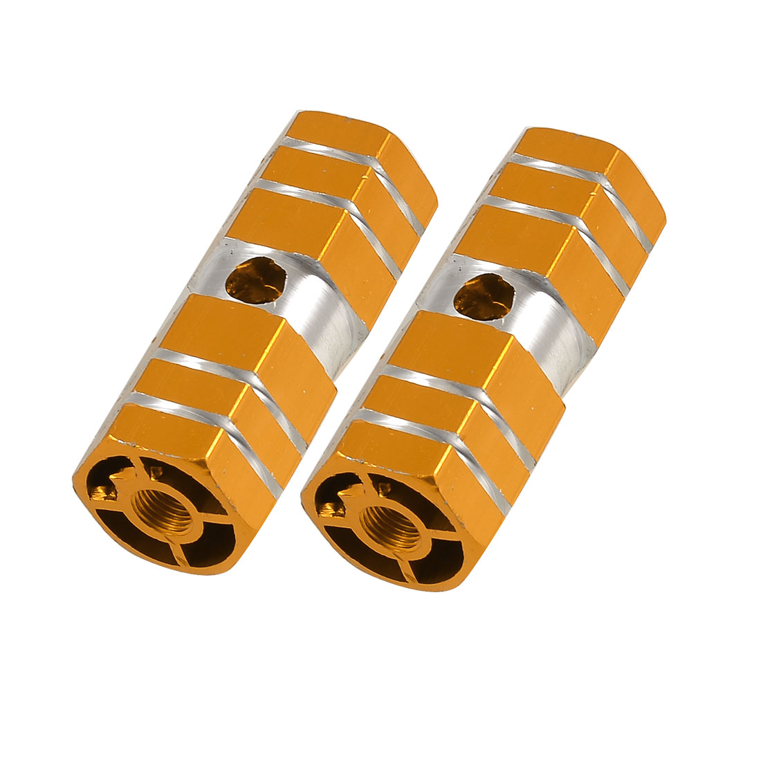 Two Tone Aluminum Nonslip Bicycle Front Rear Axle Foot Pegs Pair