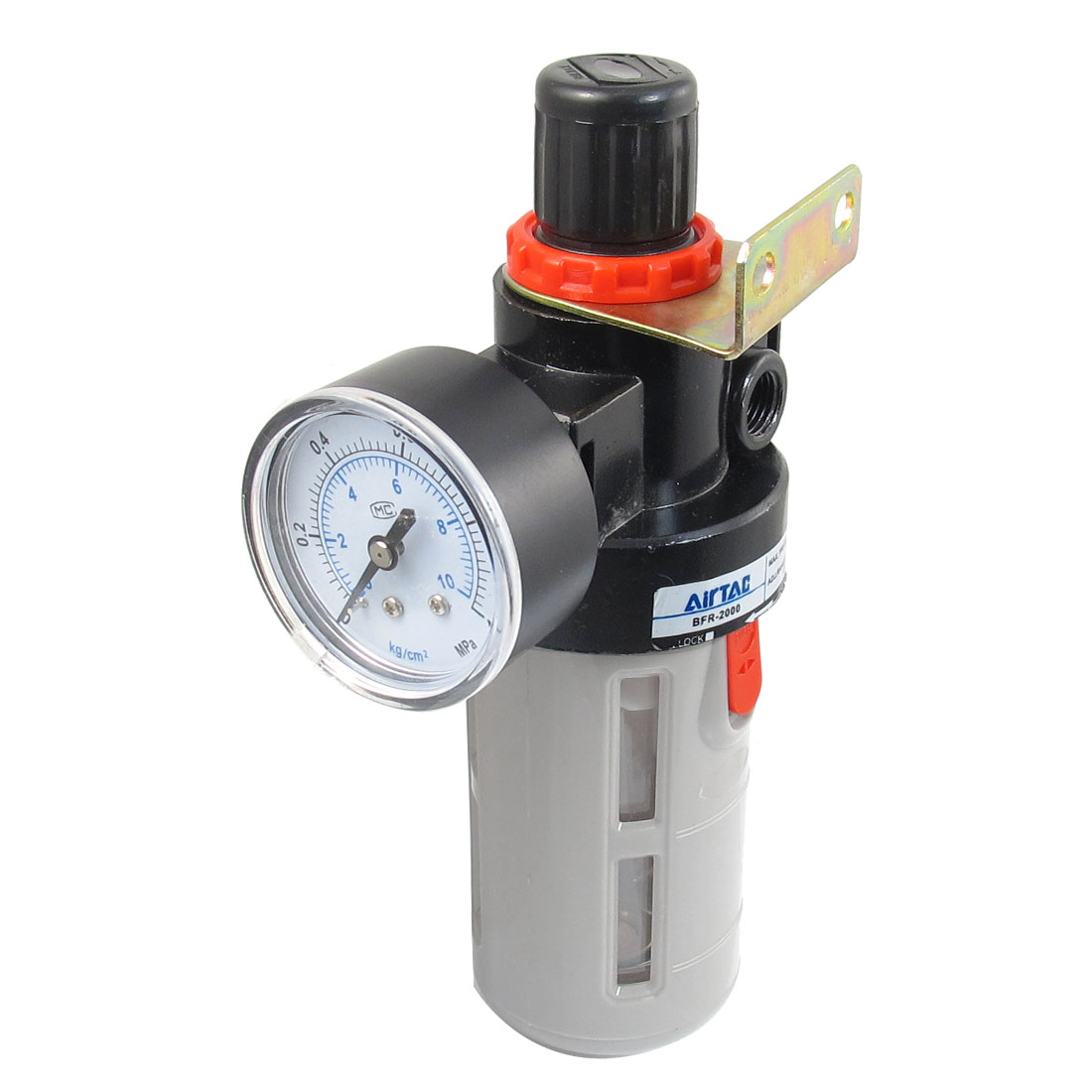"BFR-2000 Adjustable Polycarbonate Water Air Pneumatic Filter Regulator 1/4""PT"