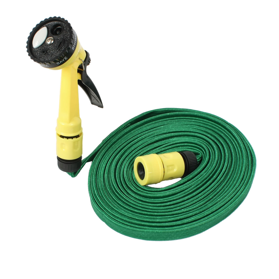 10M 32.8FT Flexible Water Hose Nozzle Yellow Grip Watering Nozzles