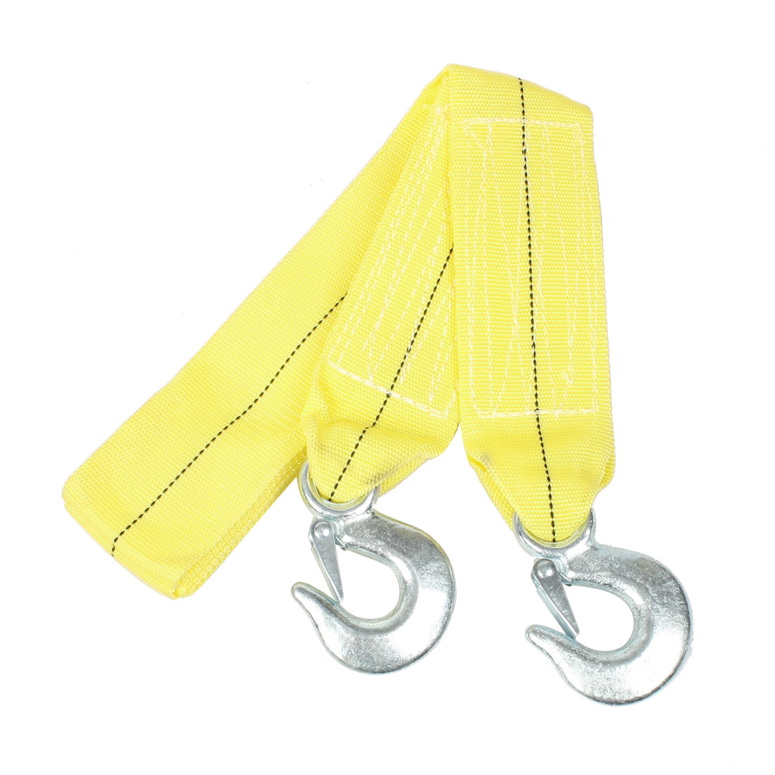 Forged Metal Hook Emergency 5 Ton Yellow Car Tow Strap 4.5 Meters
