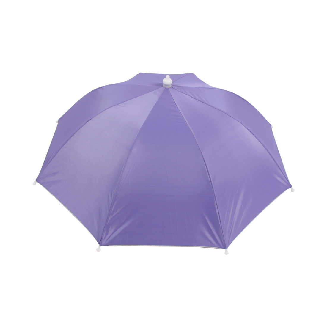 Fishing Camping Hands Free Light Purple Polyester Umbrella Hat Cap