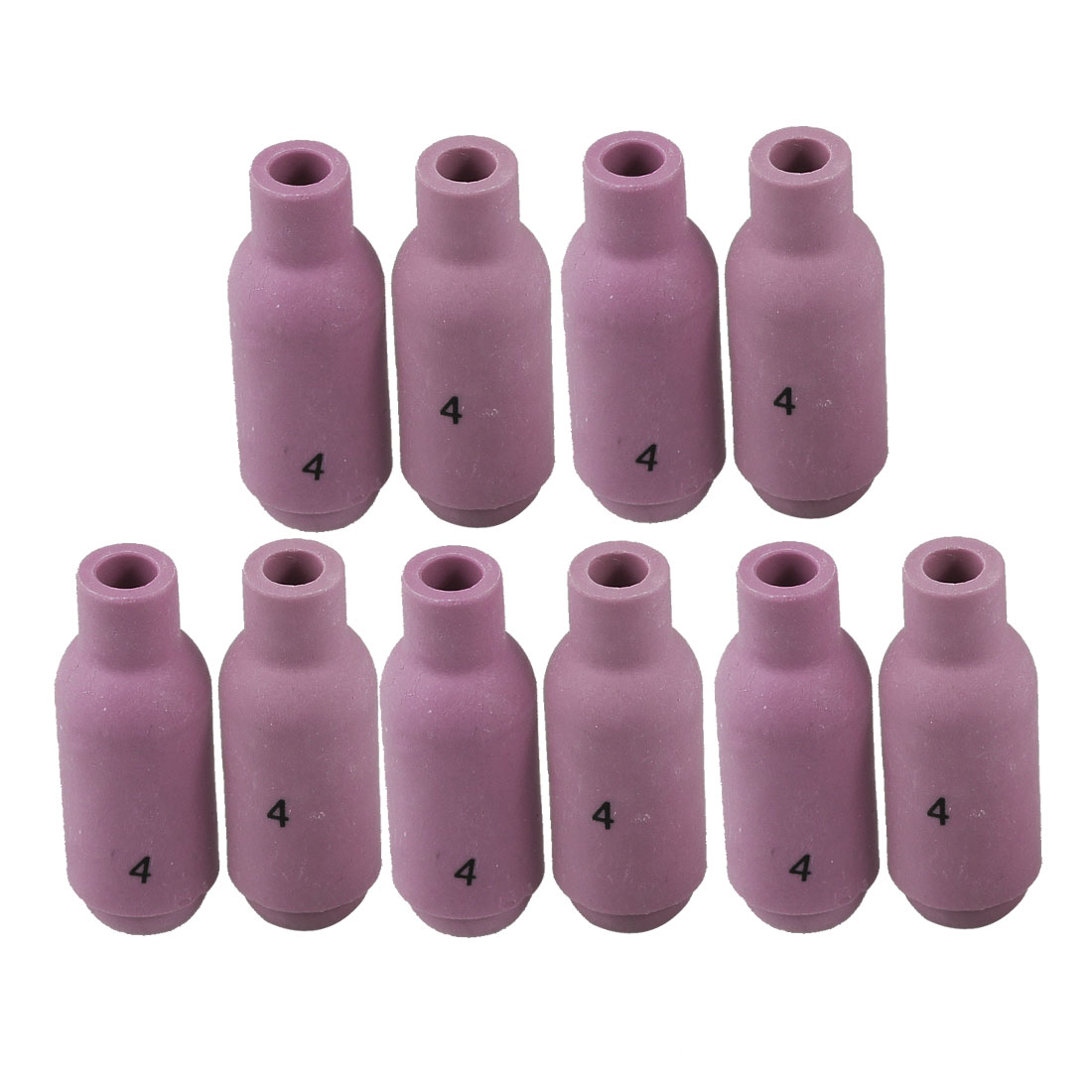 10 Pcs TIG Welding Torch Alumina Ceramic Cup Nozzles 10N50 #4 for Torch WP17 WP18 WP26