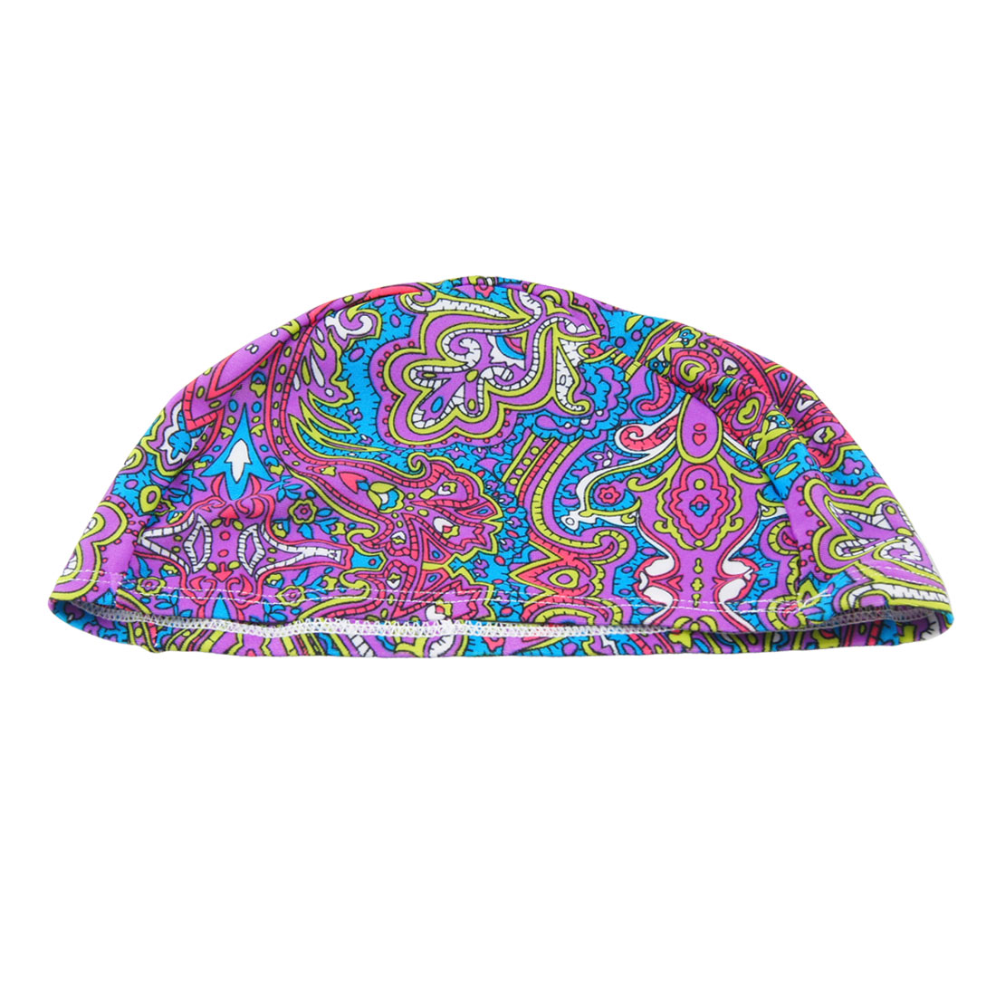 Adults Colorful Novelty Pattern Dome Shaped Elastic Polyester Swimming Cap Hat