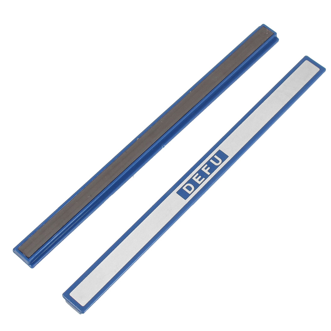 2 Pcs Office Dark Blue Plastic Whiteboard Magnetic Stripes Bars 7.8""