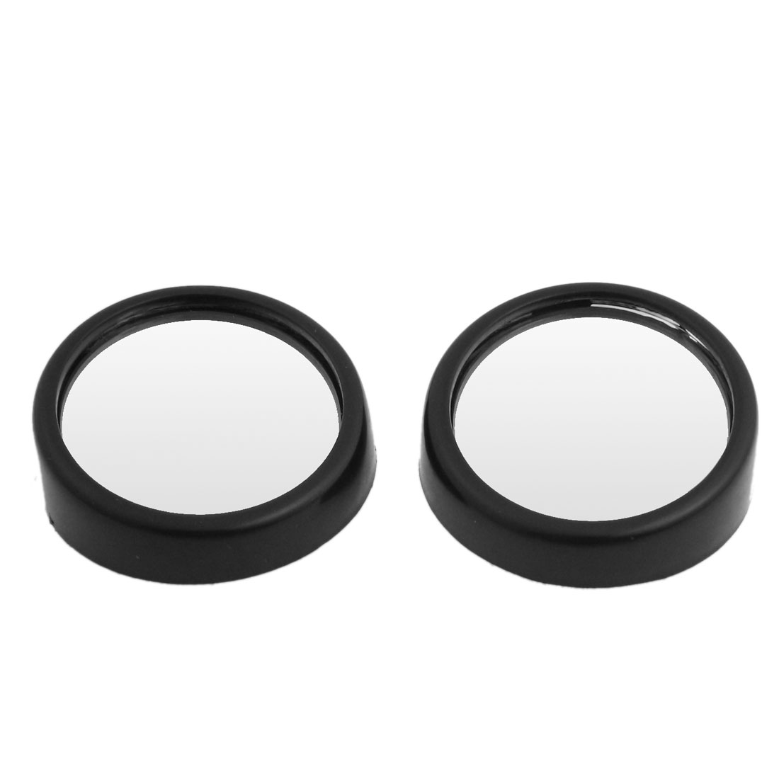 "Auto Car Safety 1.6"" Stick On Rear View Blind Spot Mirror Black 2 Pcs"