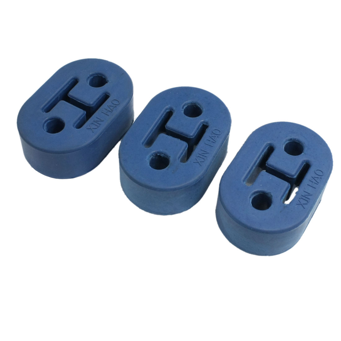 3 Pcs Double Holes Rubber Reinforced Muffler Exhaust Hanger Bushing