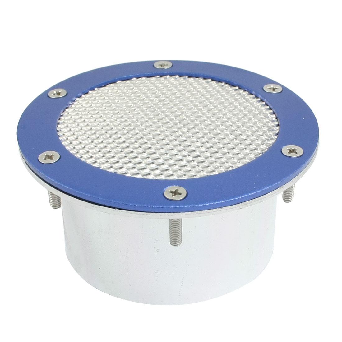"""4"""" Diameter Auto Vent Fender Air Flow Decoration Cover Silver Tone Blue"""