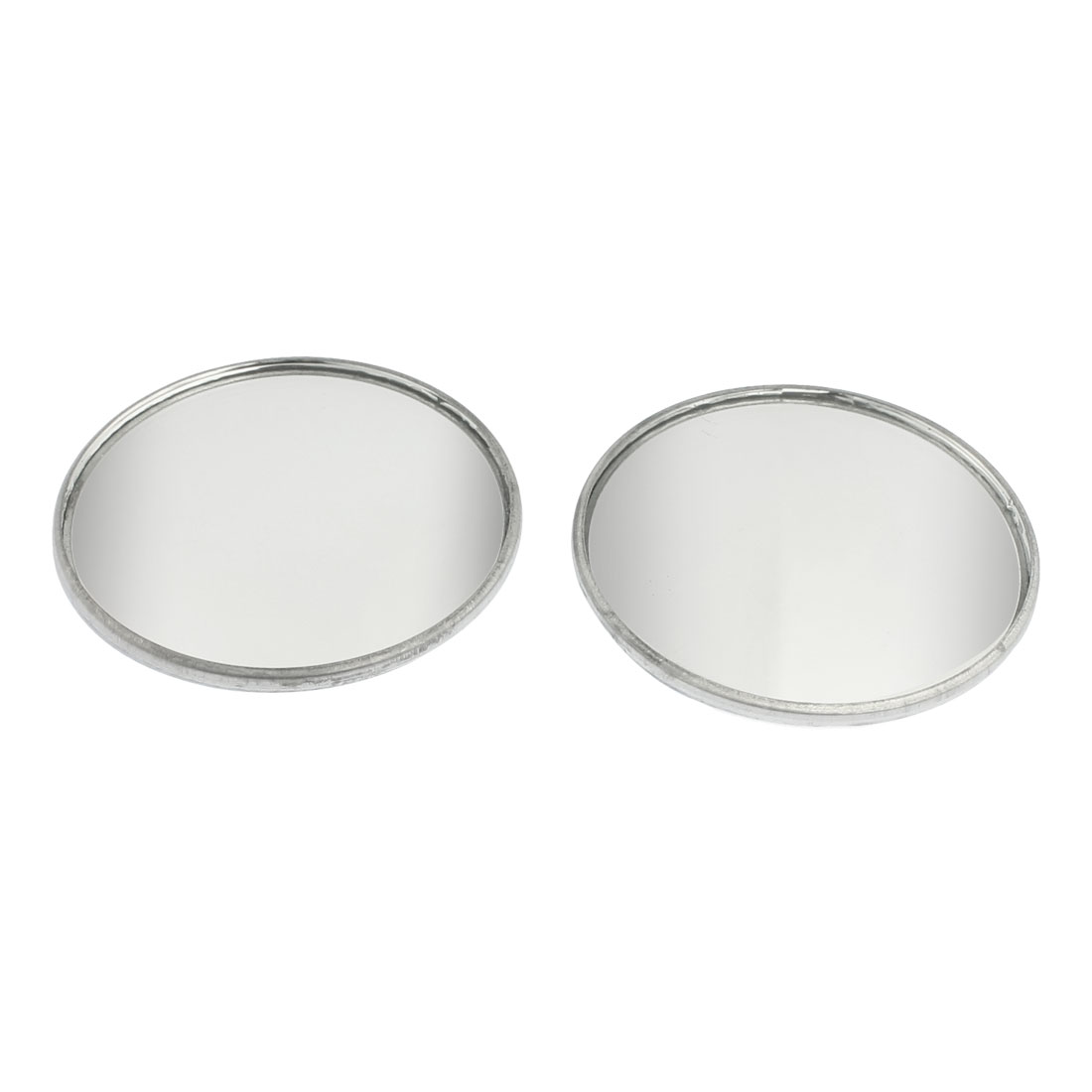 2 Pcs Adhesive Round Side Rearview Blind Spot Mirrors Silver Tone 2""