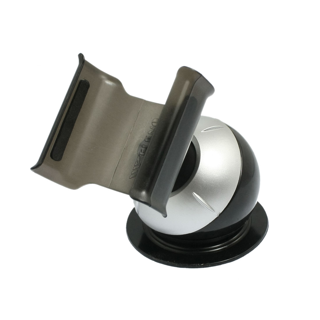 Car Mount Windshield Cradle Holder Stand Black Silver Tone for Cell Phone