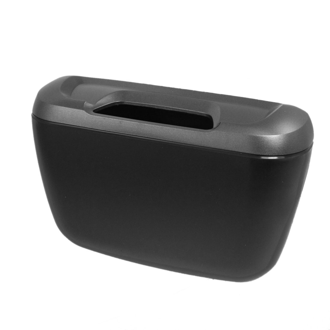 Vehicle Car Black Gray Plastic Trash Rubbish Garbage Bin Box Can