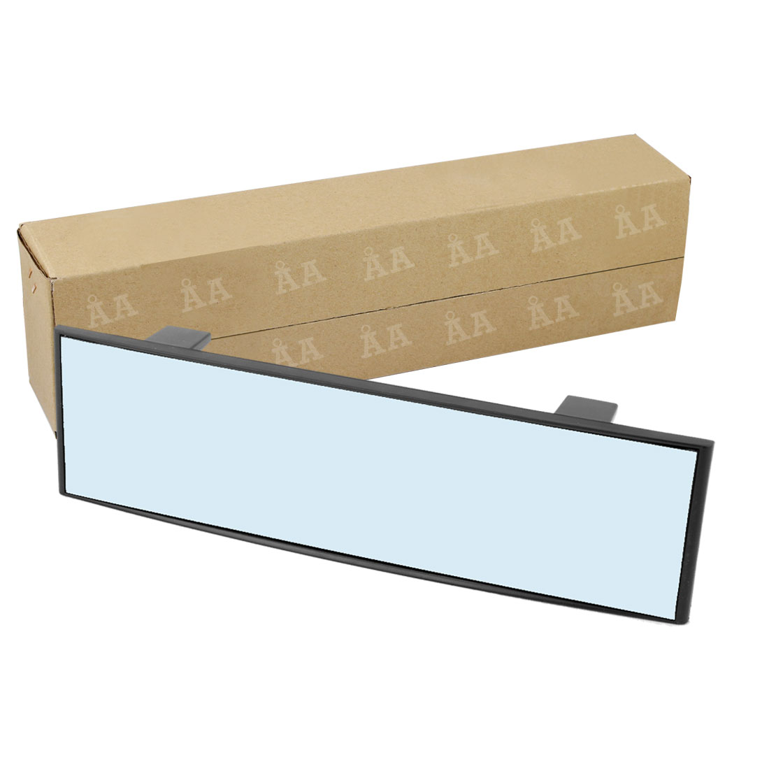 270mm Wide Anti-Glare Blue Tint Curve Clip On Rear View Mirror 75mm