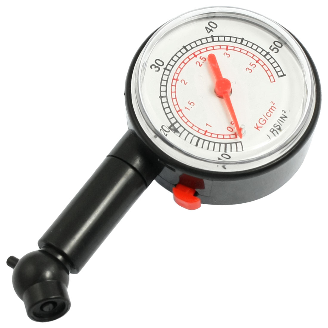 "Truck Bicycle Car 2"" Round Dial 0.5-3.5 kg/cm2 Air Tire Pressure Gauge Meter"