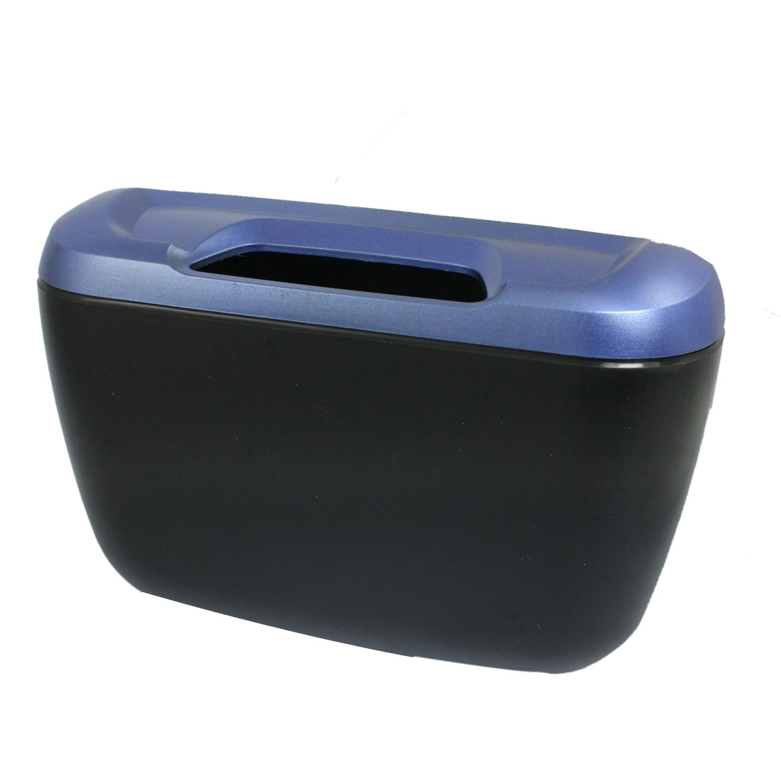 Car Auto Trash Bin Black Blue Plastic Garbage Holder w Hook