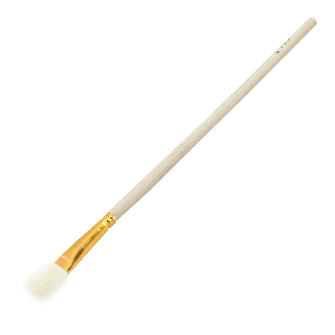 "Wood Handle 0.4"" White Faux Fur Head Painting Tool Paint Brush"