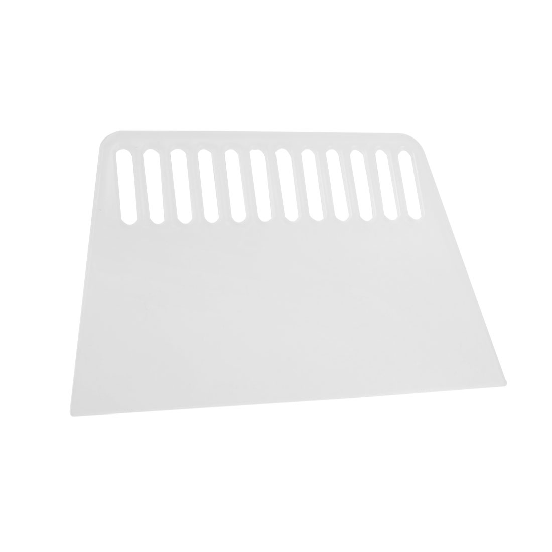 "Clear White Plastic Perforating Wall Paint Scraper Scraping Cutter 7.2"" Length"