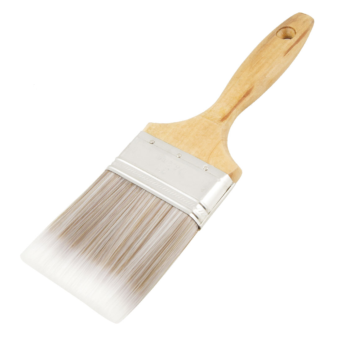 "3"" Width Khaki White Bristle Wooden Handle Paint Brush Painting Tool"