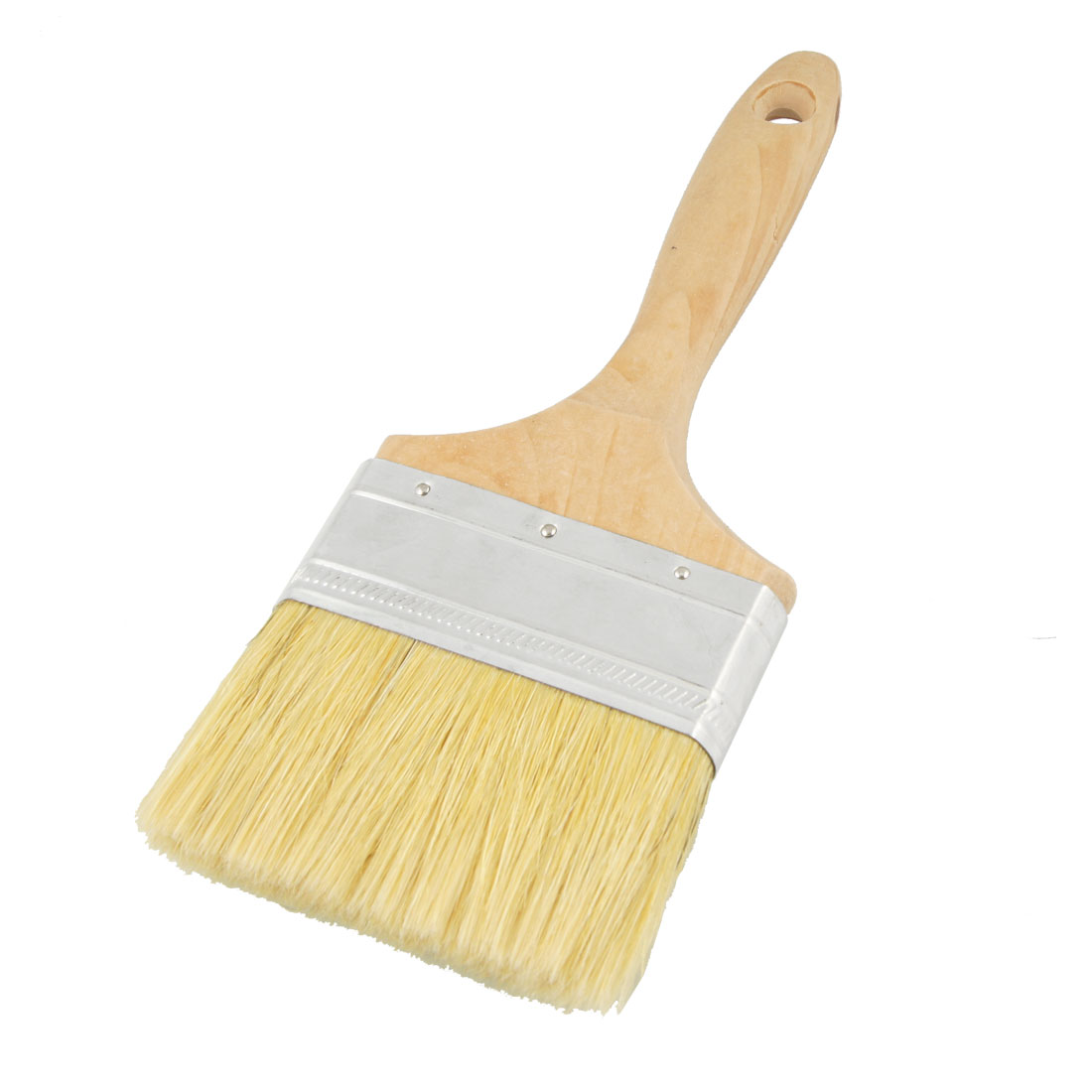 "4"" Width Bristle Hair Wooden Handle Paint Brush Wall Painting Tool"