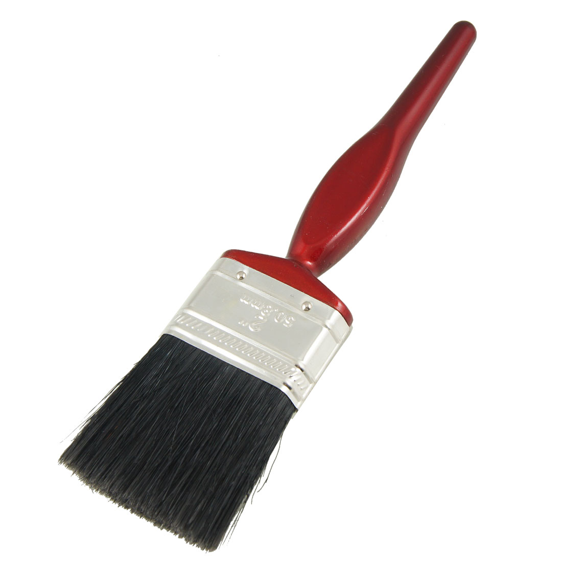 "2"" Wide Black Bristle Dark Red Handle Paint Brush Painting Tool"