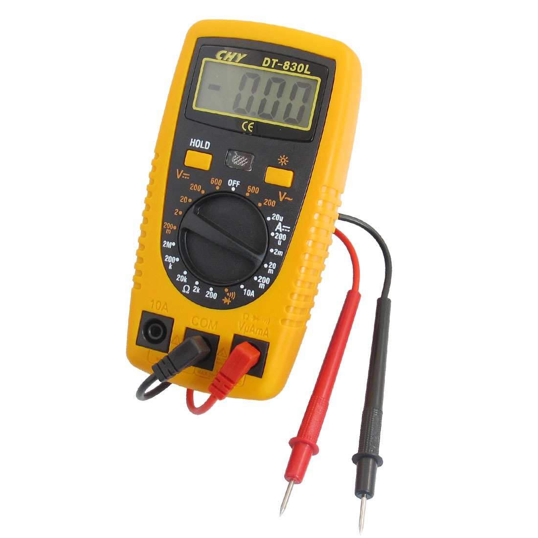 AC DC Voltage Current Testing Gauge Digital Multimeter Multiester DT-830L