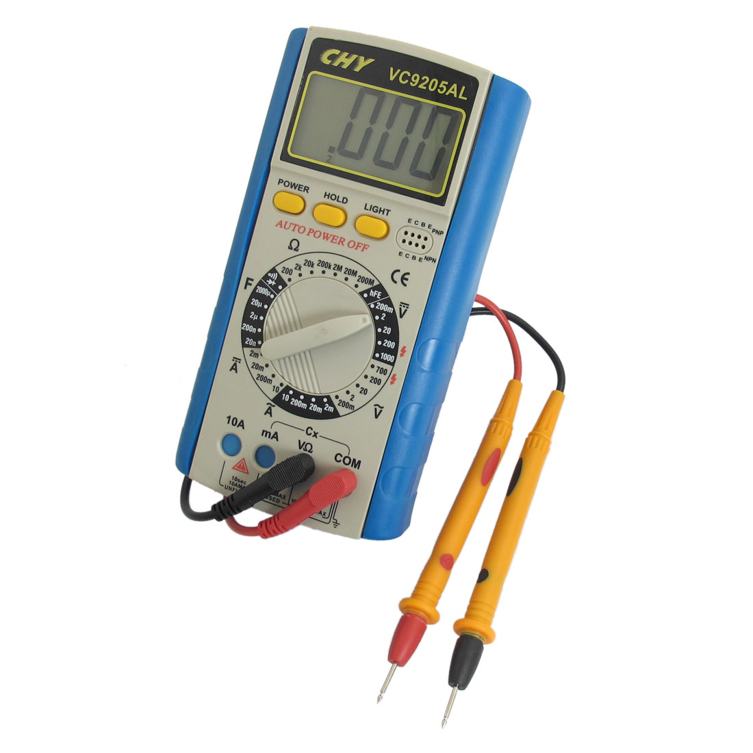Blue AC DC Current Ammeter Ohmmeter Capacitance Testing Digital Multimeter
