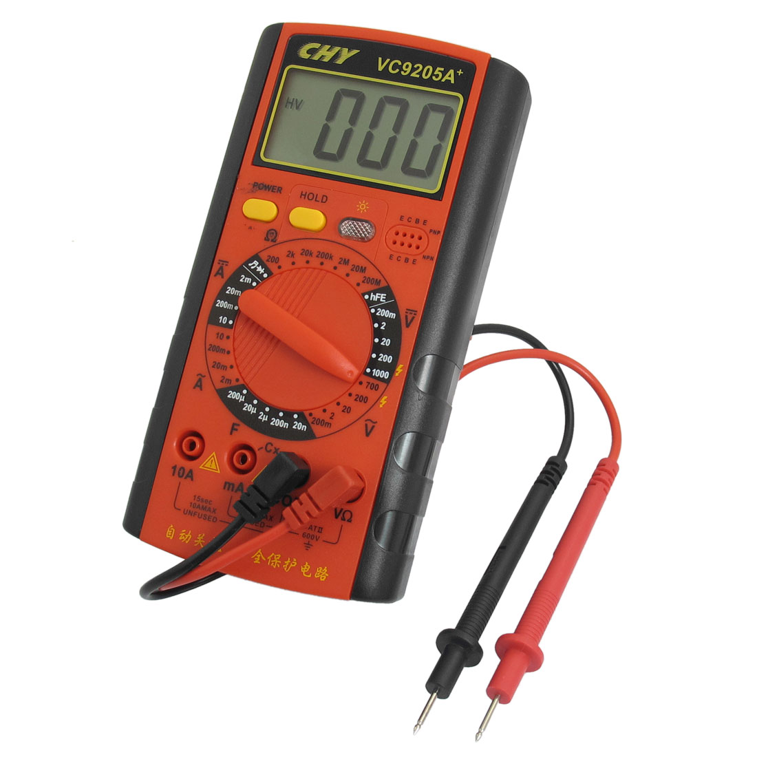 Red AC DC Current Ammeter Ohmmeter Capacitance Testing Digital Multimeter