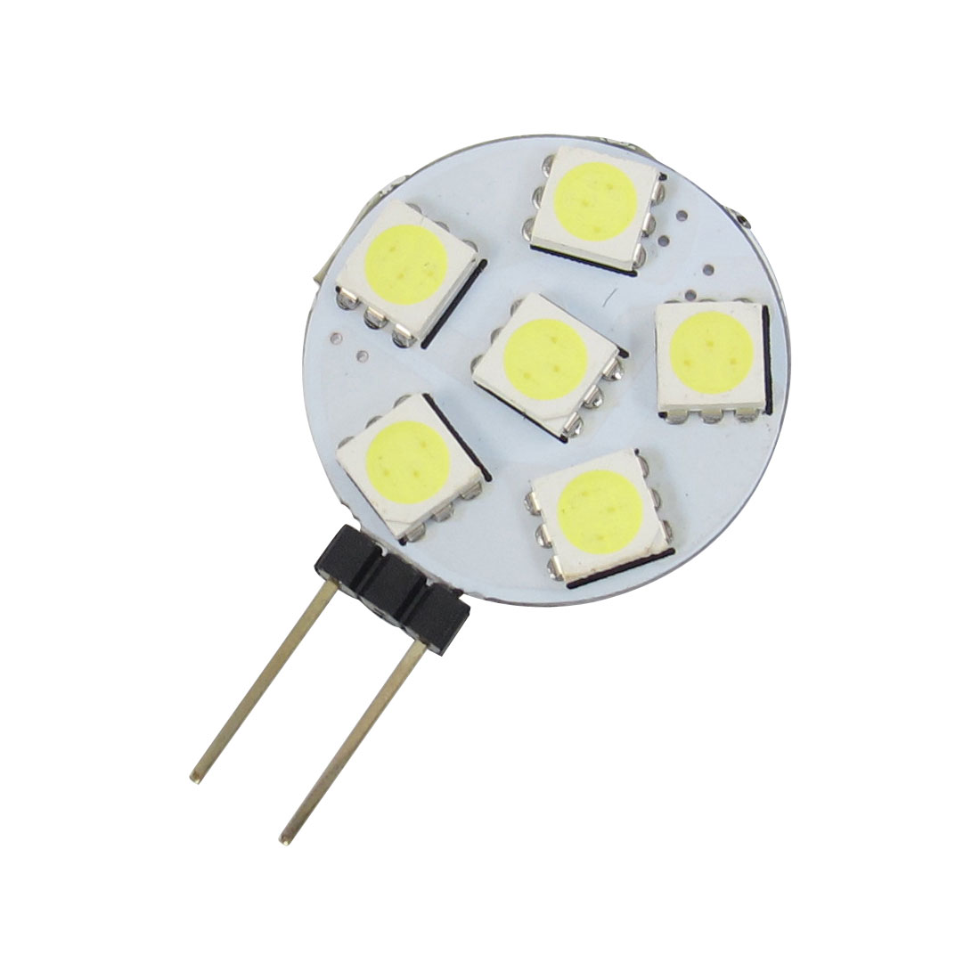 White G4 6 5050 SMD LED Side Pin Light Lamp Bulb for Car Auto
