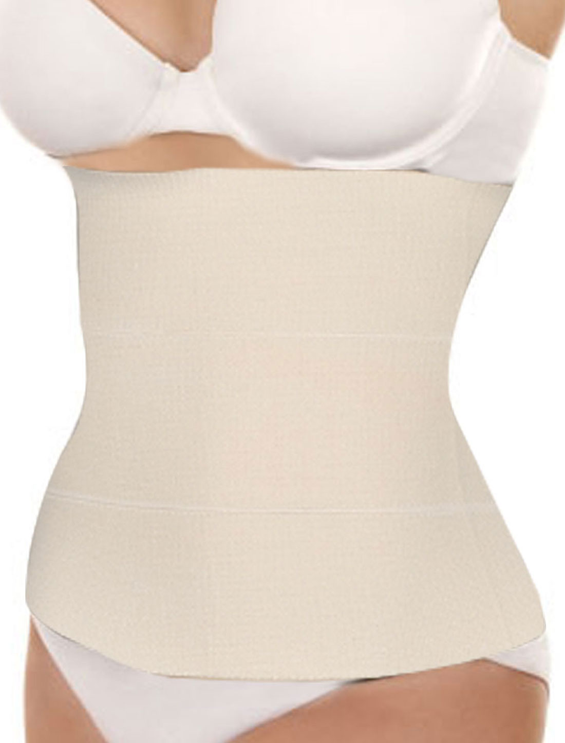 Ladies Elastic Shapewear Tummy Shaper Slimming Belt Waist Cincher Beige M