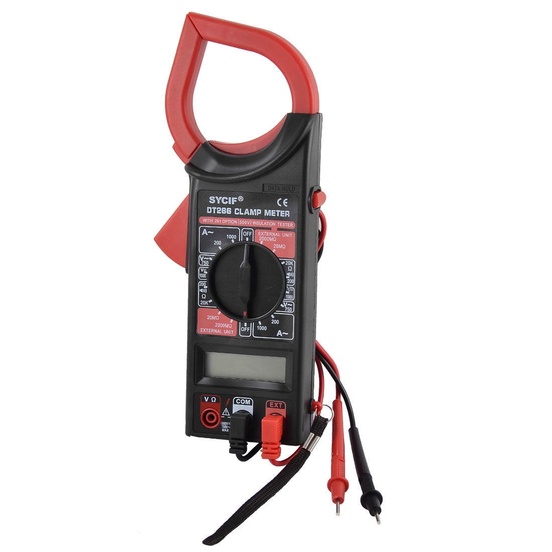 2000 Counts AC DC Current Digital Clamp Meter Multimeter w Hand Strap