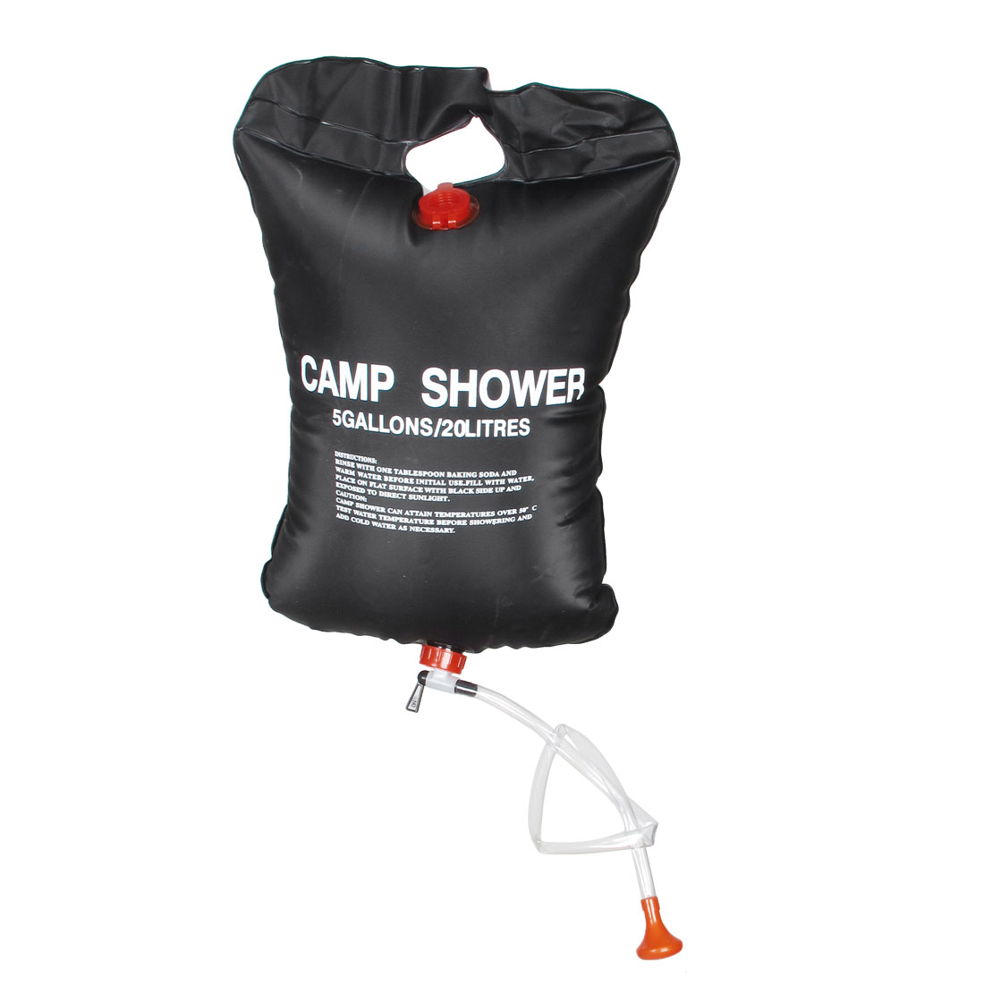 20L 5 Gallons Black Foldable Solar Camping Camp Shower Bathing Bag