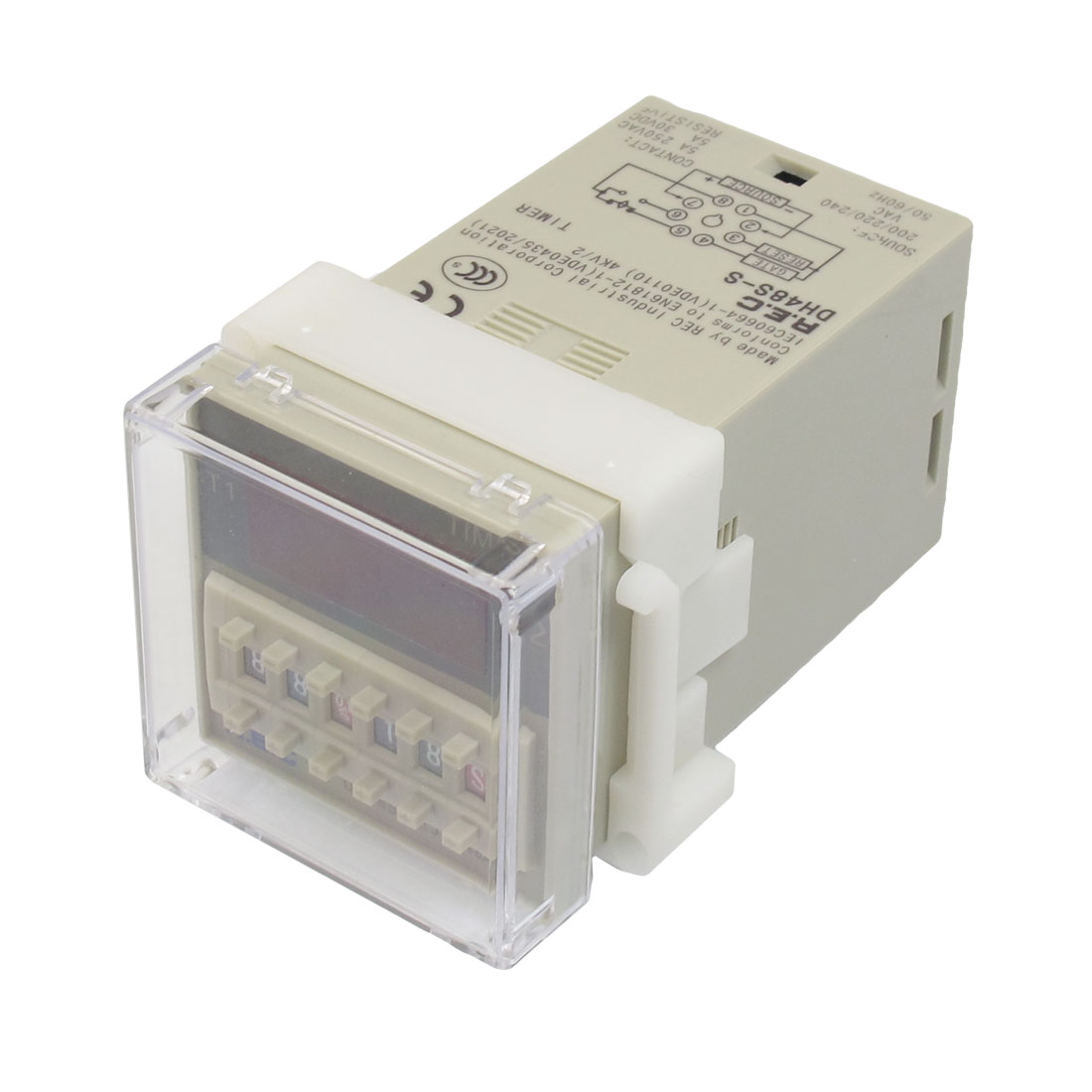 AC 220V Digits Presettable Programmable Circle Double Time Delay Relay DH48S-S