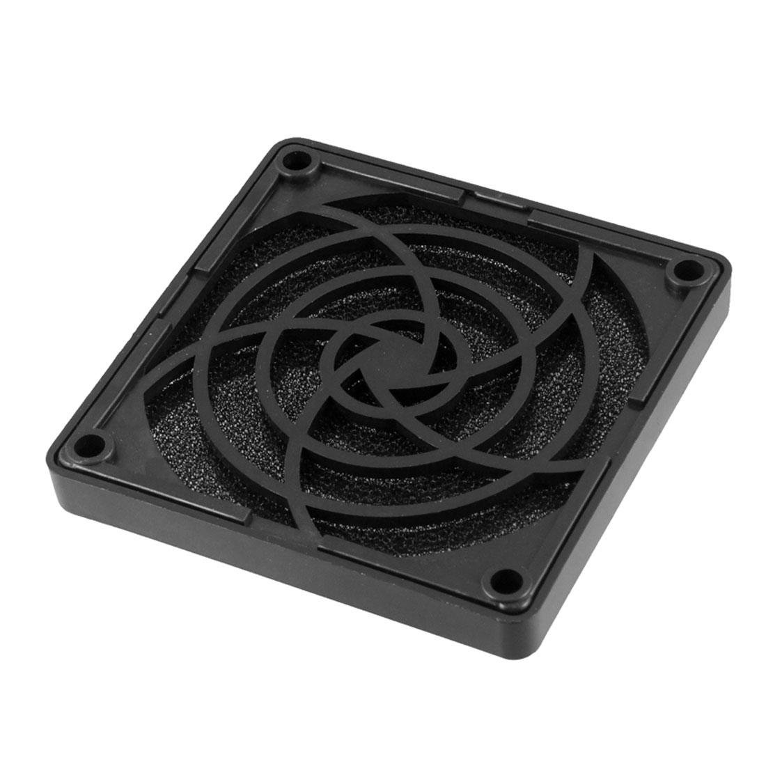 Black Plastic Square Dustproof Filter 80mm PC Case Fan Dust Guard Mesh