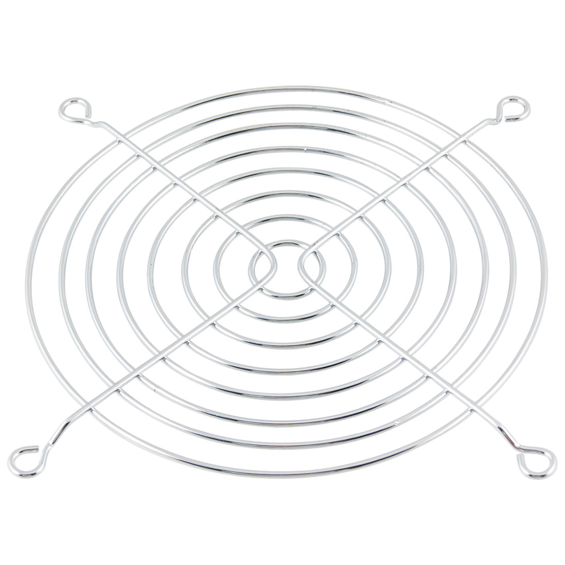 11cm 110mm Metal Wire Computer Laptop Case Fan Guard Grill Silver Tone