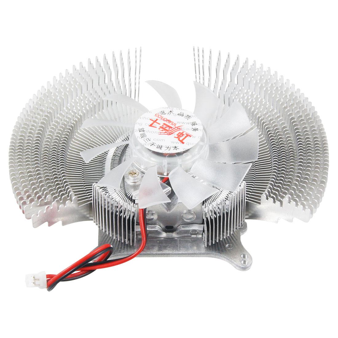 DC 12V 0.18A 2800RPM 2 Terminals Computer CPU Heatsink Cooling Fan Cooler