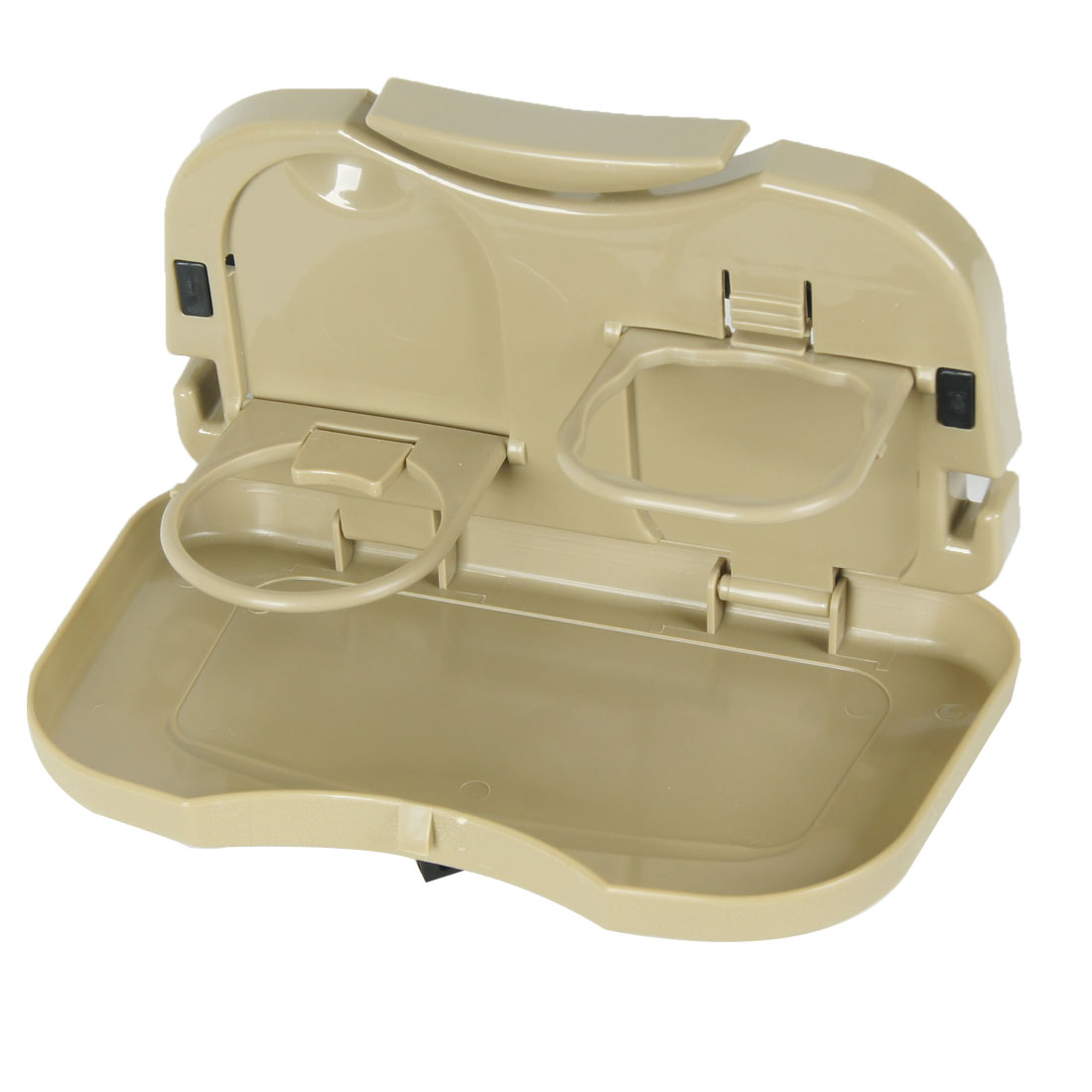 Khaki Foldable Drink Holder Car Auto Multifunctional Tray