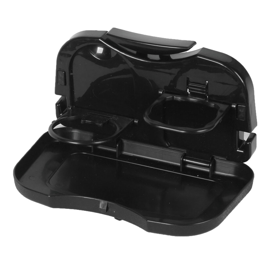 Car Auto Back Seat Food Drink Cup Holder Folding Tray Black