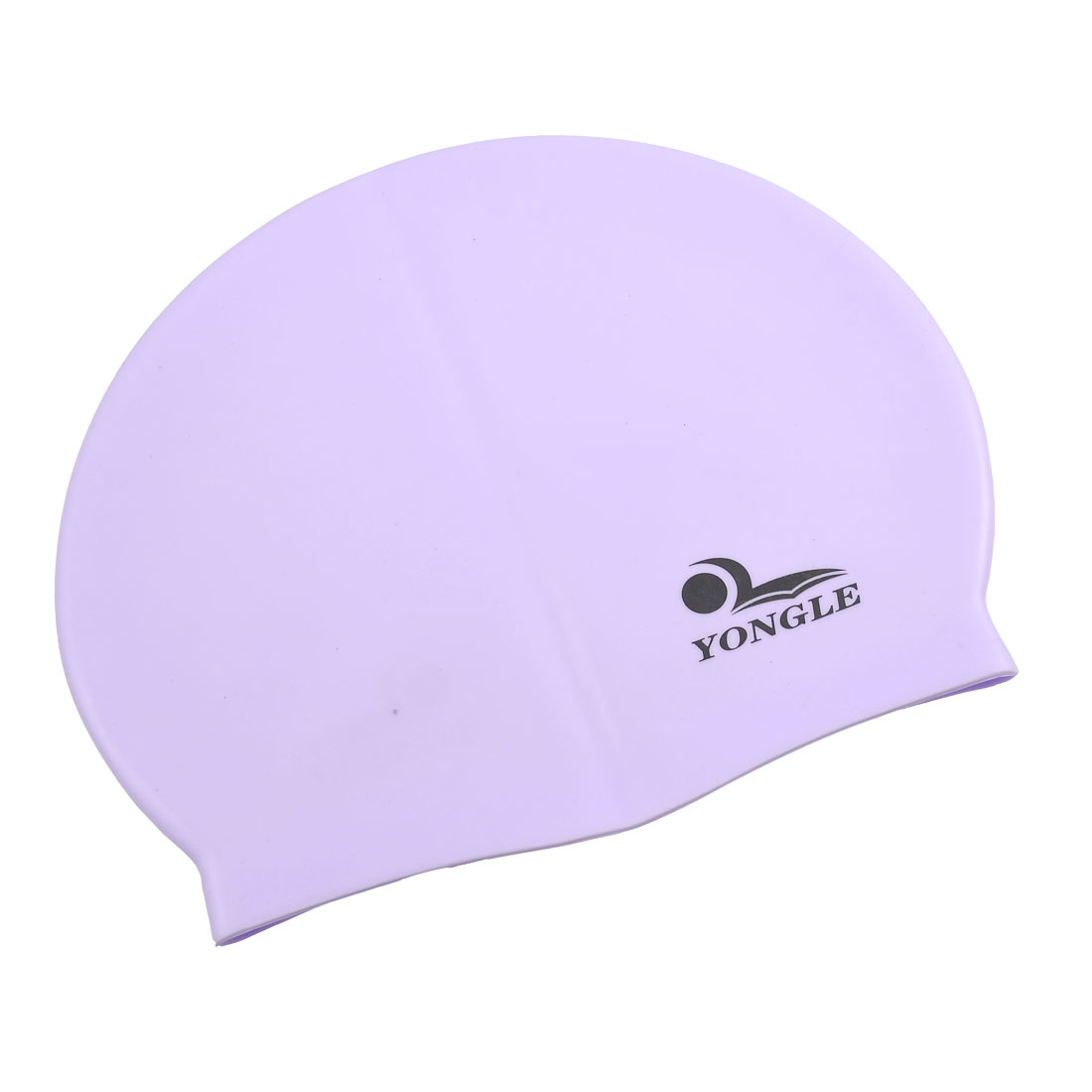 Light Purple Silicone Skin Elastic Surf Surfing Swimming Cap for Adults