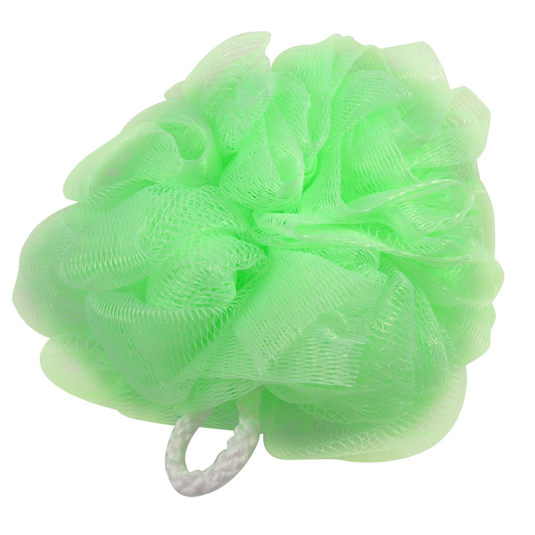Green Nylon Bathing Shower Pouf Body Cleaner Scrubber Scrubbing Tool